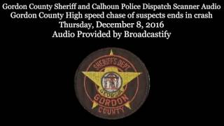 Download Gordon County Sheriff dispatch Scanner Audio from high speed chase Video