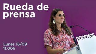 Download Rueda de prensa de Noelia Vera, portavoz del Consejo de Coordinación de Podemos. Video