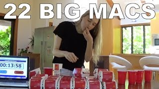 Download Eating 22 Big Macs in One Sitting! Video