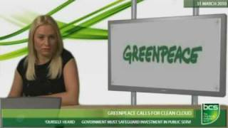 Download Greenpeace calls for clean cloud Video