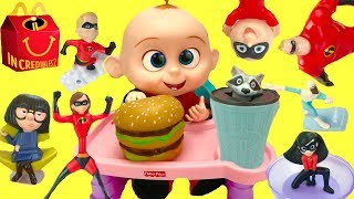 Download Full Set of The Incredibles 2 Happy Meal Toys with Baby Jack Jack Video