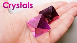 Download Grow Purple Single Crystals of Salt at Home! DIY Home Decorations! Video