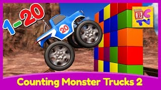 Download Counting Monster Trucks 2 | Learn to count from to 1 to 20 for Kids Video