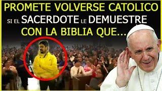 Download Cristiano en el Templo Promete Volverse Católico si el Sacerdote le Demuestre con la BIBLIA QUE... Video