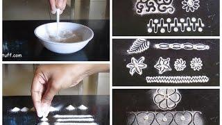 Download Rangoli basic techniques and innovative rangoli patterns | Poonam Borkar rangoli Video