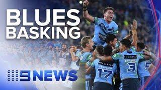 Download NSW celebrating spectacular last-minute State of Origin win against QLD | Nine News Australia Video