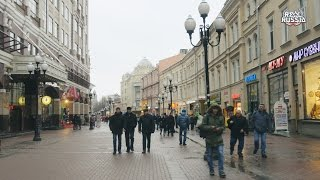 Download Quick Walk by Old Arbat Street, Moscow. ″Real Russia″ ep.125 (4K) Video