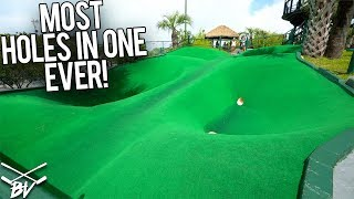 Download MOST HOLE IN ONES EVER AT THE BEST MINI GOLF COURSE IN THE WORLD! Video