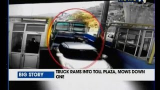 Download Fatal accident on camera: Truck rams into car, mows down toll official on Jammu-Srinagar Highway Video