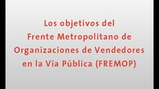 Download Los objetivos del FREMOP por María Rosete Video