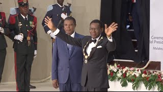 Download Obiang Nguema Sworn in as Equatorial Guinea's President Video