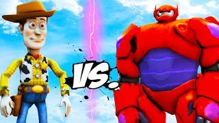 Download WOODY VS BAYMAX - Toy Story and Big Hero 6 Video