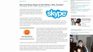 Download ★ News - Microsoft Buys Skype for $8.5 Billion in Cash Today! - TGN Video