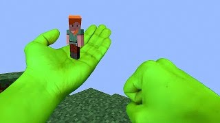 Download REALISTIC MINECRAFT - ANGRY HULK SAVES ALEX Video