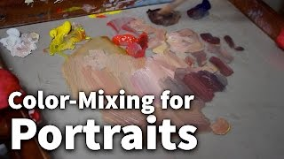 Download Color-Mixing for Portraits   Acrylic & Oil Painting Lesson Video