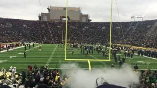 Download Notre Dame enter Notre Dame Stadium 11/19/2016 Video