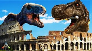 Download ARK SURVIVAL: DINO WARS - BUILDING A COLOSSEUM - ARK SURVIVAL SCORCHED EARTH FUNNY MOMENTS & FAILS Video