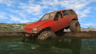 Download JEEP GRAND CHEROKEE TRAIL READY - MUDDING, OFF-ROADING, JUMPS (BeamNG Drive Mods) Video