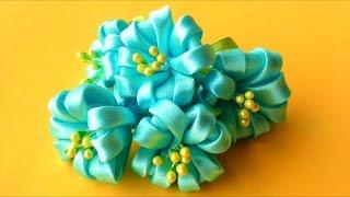 Download Цветочки КАНЗАШИ без Клея и Иголки! Мастер-класс / Kanzashi Flowers Tutorial / ✿ NataliDoma Video