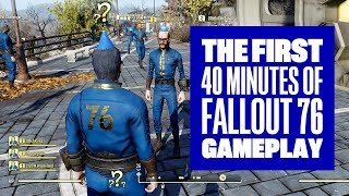 Download The First 40 Minutes of Fallout 76 - Fallout 76 Gameplay Multiplayer Xbox One X Video