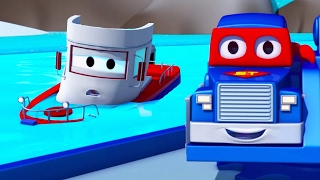 Download Carl the Super Truck saves Bobby the Boat of Car City 🛥️🚛 Trucks Cartoon for Kids Video