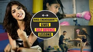 Download Top Self Defense Moves For Women 2017: Rhea Chakraborty demonstrates Krav Maga techniques Video