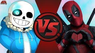 Download SANS vs DEADPOOL! (Undertale vs Marvel) Cartoon Fight Club Episode 132 Video