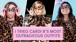 Download I tried Cardi B's Most Outrageous Looks | The Dressing Room Challenge Video