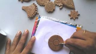 Download Terracotta /clay jewellery making tutorial: how to make a simple flower pendant Video