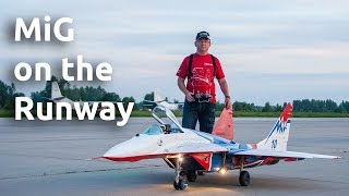 Download Giant Rc-model of MiG-29 on the Runway Video