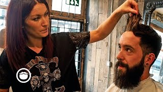 Download Stylish Beard Trim and Haircut | Cut & Grind Video