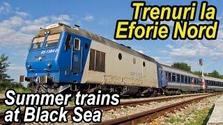 Download Trenuri la Eforie Nord-Summer trains at Black Sea Video