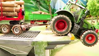 Download TOYS IN ACTION -Animals on the road cause ACCIDENT - Rc Tractor & Farm Toy fun Video