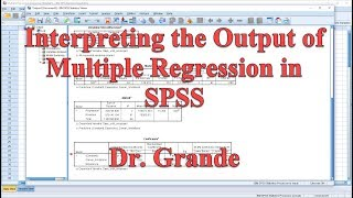 Download Interpreting Output for Multiple Regression in SPSS Video