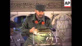 Download USA: NEW YORK: CUBAN PRESIDENT FIDEL CASTRO VISITS HARLEM Video