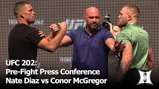 Download UFC 202: Nate Diaz vs Conor McGregor 2 Pre-Fight Press Conference + Face-Off (complete / unedited) Video