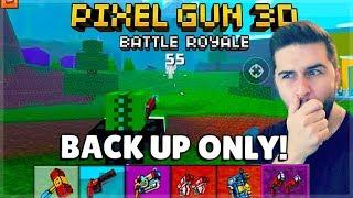 Download OMG! INSANE LUCK! BACK UP WEAPONS ONLY CHALLENGE BATTLE ROYALE | Pixel Gun 3D Video