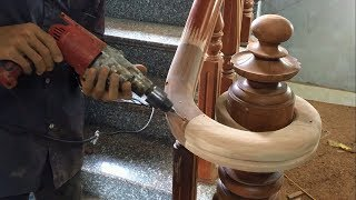 Download Amazing Curved Woodworking Project - How To Make a Curved Railing For Wood Stairs (Part 2) Video