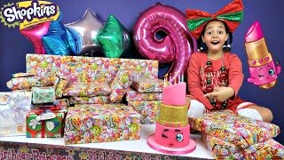 Download Tiana's 9th Birthday Party! Family Fun Games - Surprise Toys Opening Presents - Shopkins Cake Video