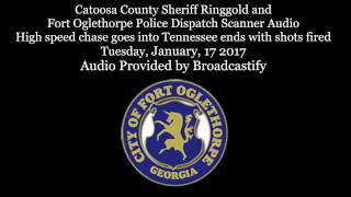 Download Police Dispatch Scanner Audio High speed chase goes into Tennessee ends with shots fired Video