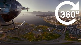 Download Downtown Vancouver at Sunset (4K 360 Video) Video