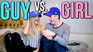 Download What's In Our Travel Carry On Bags? GUY VS. GIRL Ft. Joey Kidney Video