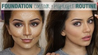 Download Tutorial | Foundation Contour & Highlight Routine | Kaushal Beauty Video