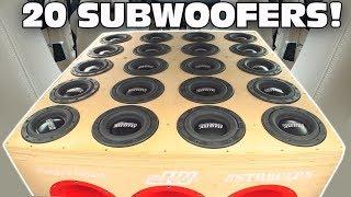 Download BIGGEST 6.5″ Subwoofer Setup EVER!?! 20 SUNDOWN Subs w/ Sound System DEMO & 2 12″ Ported Subwoofers Video