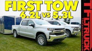 Download Compared: 2019 Chevy Silverado 1500 5.3L vs 6.2L V8 First Tow Review! Video