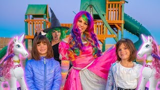 Download Princess Lollipop gives Kate & Lilly MAGIC Unicorns! Video