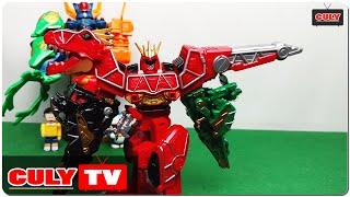 Download Robot siêu nhân chiến đội điện long khủng long đồ chơi trẻ em - dinosaur robot kid toy for childrens Video