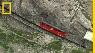Download A Swiss Alpine Train Ride is Dizzyingly Steep | National Geographic Video