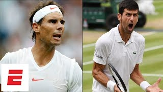Download Wimbledon 2018 Highlights: Novak Djokovic beats Rafael Nadal in epic 2-day semifinal | ESPN Video