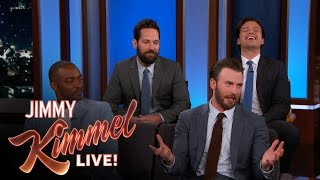 Download Chris Evans, Anthony Mackie, Sebastian Stan & Paul Rudd Do Personal Trivia Video